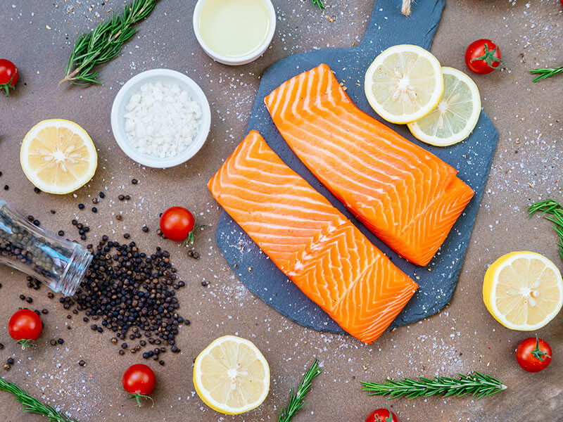 烤鮭魚4種私房料理
