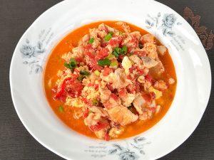 鱸魚片番茄炒蛋-馬姐漁舖