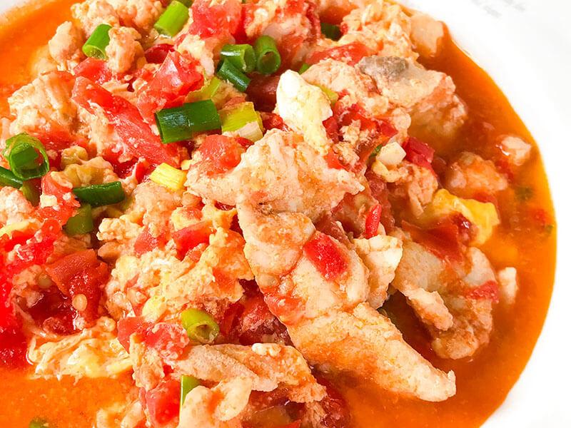鱸魚番茄炒蛋