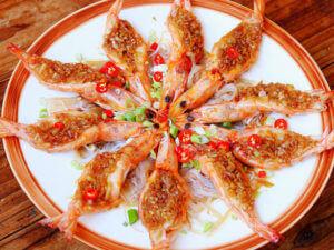 蒜蓉粉絲蒸白蝦