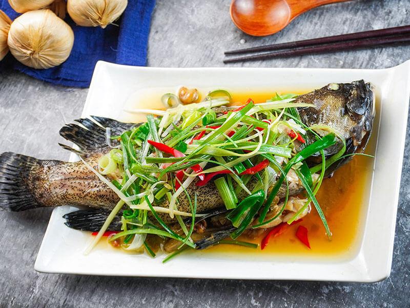 清蒸龍虎石斑魚
