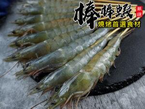 鮮撈活凍棒棒蝦-20支入