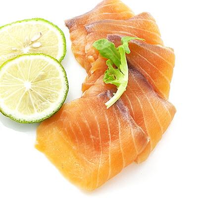煙燻鮭魚片 100g