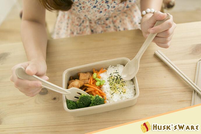 美國Husk'sWare 稻殼餐具極簡中式套裝組